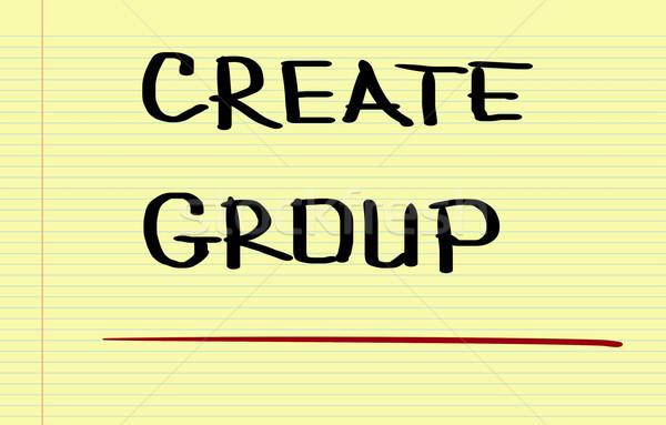 Create Group Concept Stock photo © KrasimiraNevenova