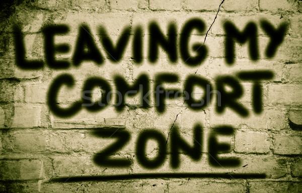 Confort écrit Emploi nouvelle commencer Photo stock © KrasimiraNevenova
