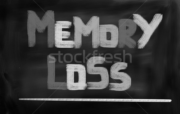Pérdida de la memoria médicos salud ancianos atención concepto Foto stock © KrasimiraNevenova