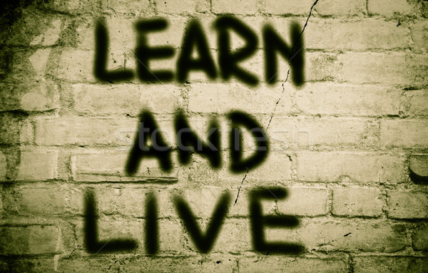 Learn And Live Concept Stock photo © KrasimiraNevenova