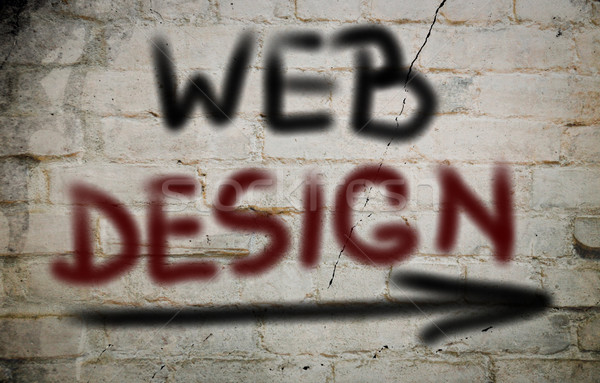 веб-дизайна бизнеса интернет дизайна технологий веб Сток-фото © KrasimiraNevenova