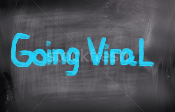 Virális internet felirat hálózat háló kommunikáció Stock fotó © KrasimiraNevenova