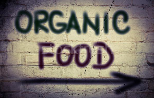 Organik gıda gıda pazar yemek sebze tatlı Stok fotoğraf © KrasimiraNevenova