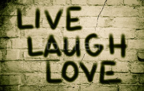 Love Laugh Love Concept Stock photo © KrasimiraNevenova