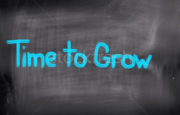 Time To Grow Concept Stock photo © KrasimiraNevenova