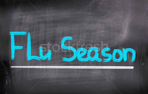 грипп сезон медицина холодно вирус текста Сток-фото © KrasimiraNevenova
