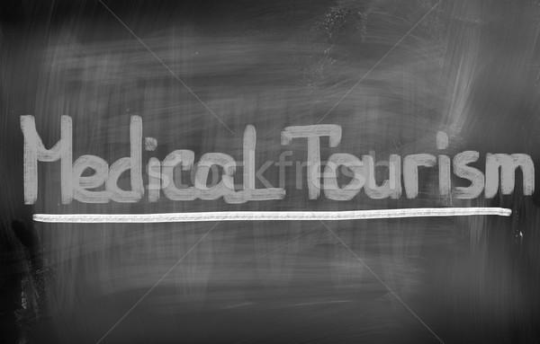 Foto stock: Médico · turismo · médico · medicina · viajar · avião