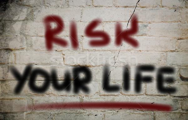 リスク 生活 規模 バランス アイデア コンセプト ストックフォト © KrasimiraNevenova