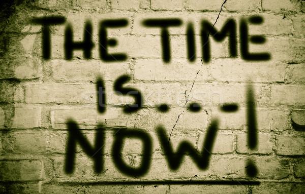 Foto stock: Tempo · agora · relógio · assinar · futuro · caminho