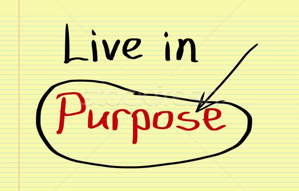 Live In Purpose Concept Stock photo © KrasimiraNevenova