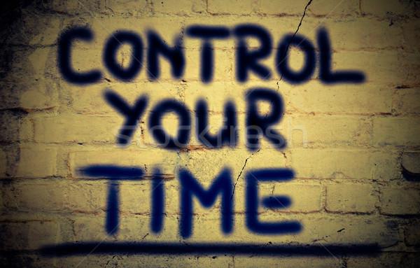 Control Your Time Concept Stock photo © KrasimiraNevenova