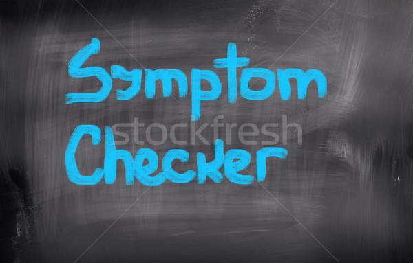 Tünet iskola oktatás felirat képzés siker Stock fotó © KrasimiraNevenova