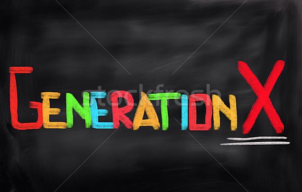 X-generáció oktatás háló előrelátás ötlet kultúra Stock fotó © KrasimiraNevenova