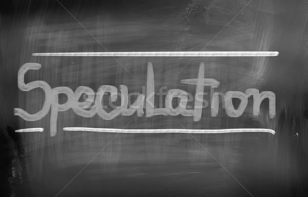 Spekuláció pénz pénzügy jövő siker pénzügyi Stock fotó © KrasimiraNevenova