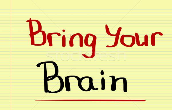 Mózgu moc pojęcia smart humor inteligencja Zdjęcia stock © KrasimiraNevenova