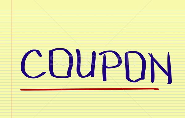 Coupon Concept Stock photo © KrasimiraNevenova