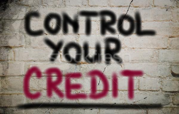 Control Your Credit Concept Stock photo © KrasimiraNevenova