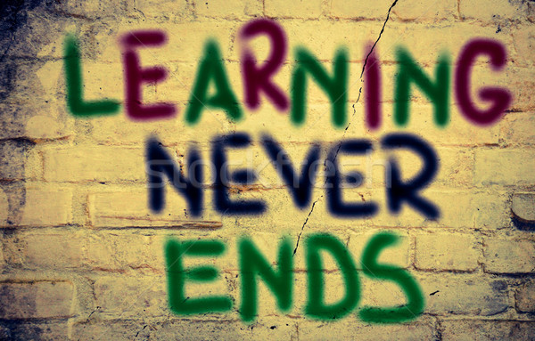 Stock photo: Learning Never Ends Concept