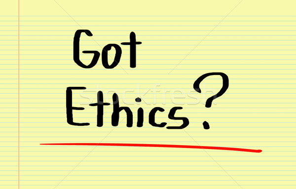 Etica concetto testo soluzione bene simbolo Foto d'archivio © KrasimiraNevenova