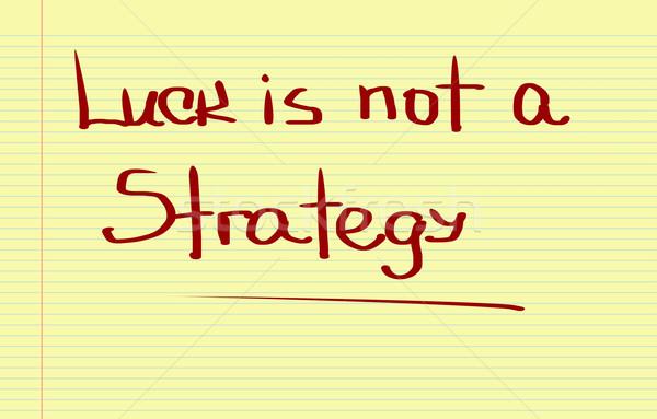 Szerencse nem stratégia csapat vásárló eladó Stock fotó © KrasimiraNevenova