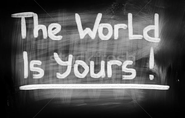 The World Is Yours Concept Stock photo © KrasimiraNevenova