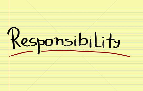 Responsibility Concept Stock photo © KrasimiraNevenova