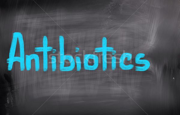 抗生物質 背景 病院 薬 痛み ピル ストックフォト © KrasimiraNevenova