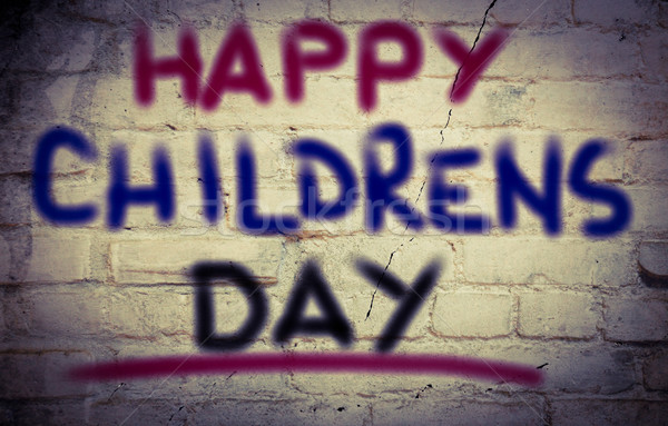 Happy Childrens Day Concept Stock photo © KrasimiraNevenova