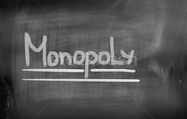 Monopole maison Finance bord gestion appartement Photo stock © KrasimiraNevenova