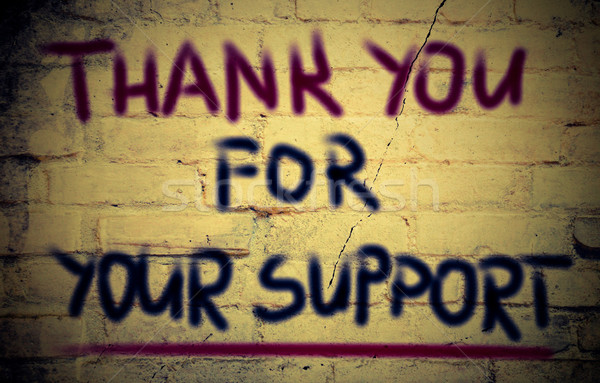 Stock photo: Thank You For Your Support Concept