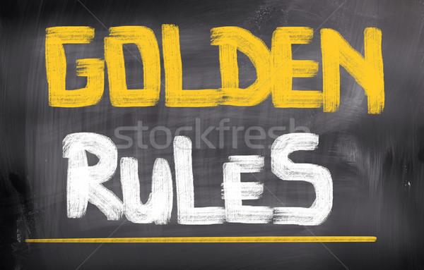 Altın kurallar kurumsal yasal kavram kontrol Stok fotoğraf © KrasimiraNevenova