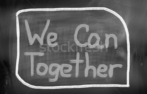 Lata juntos trabalhar grupo ajudar poder Foto stock © KrasimiraNevenova