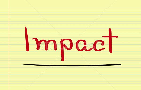 Impact Concept Stock photo © KrasimiraNevenova