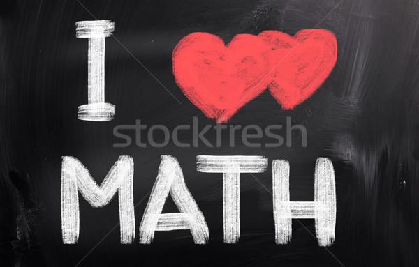 愛 数学 抽象的な 中心 背景 教育 ストックフォト © KrasimiraNevenova