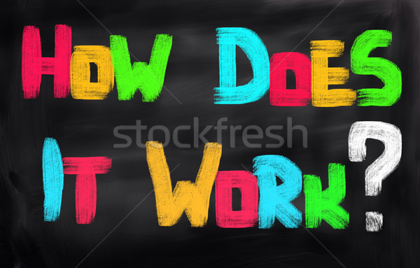 How Does It Work Concept Stock photo © KrasimiraNevenova