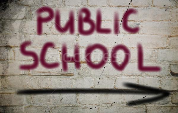 Public School Concept Stock photo © KrasimiraNevenova