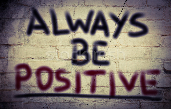 Altijd positief droom denk idee doel Stockfoto © KrasimiraNevenova
