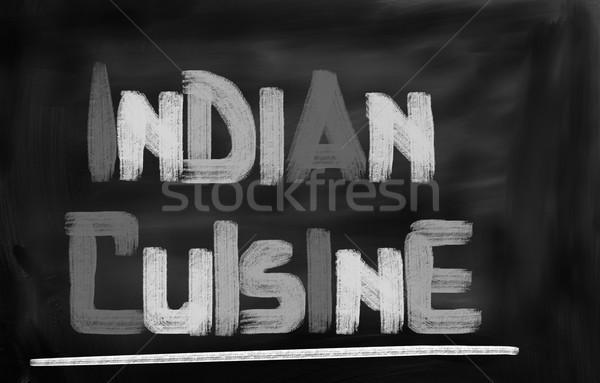 Cucina indiana alimentare ristorante verde medicina cena Foto d'archivio © KrasimiraNevenova