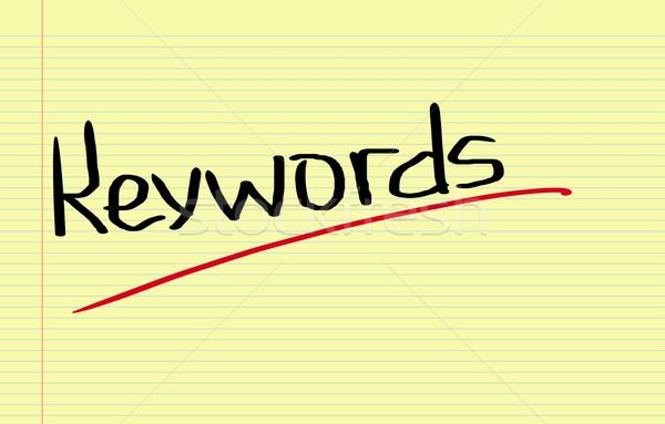 Keywords Concept Stock photo © KrasimiraNevenova