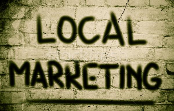 Helyi marketing térkép siker menedzser grafikon Stock fotó © KrasimiraNevenova