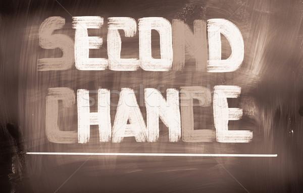 Zweiten Zufall Zeichen Plan Konzept ändern Stock foto © KrasimiraNevenova
