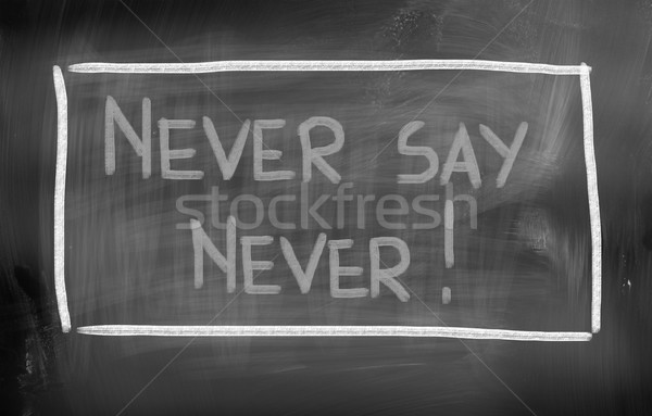 Nooit teken praten idee gesprek spreken Stockfoto © KrasimiraNevenova
