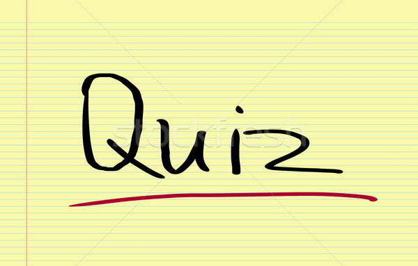 Quiz Concept Stock photo © KrasimiraNevenova