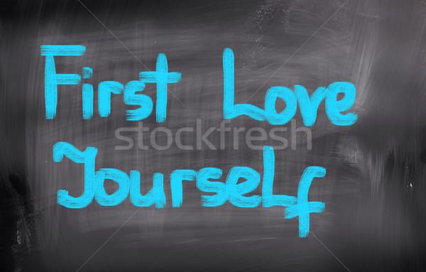 Első szeretet magad munka igazgató élet Stock fotó © KrasimiraNevenova