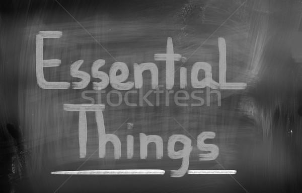 Essencial coisas amor fundo vida paixão Foto stock © KrasimiraNevenova