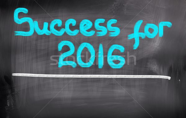 Succès 2016 affaires fond gestion plan Photo stock © KrasimiraNevenova