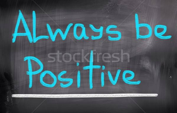 állandóan pozitív gondolkodik ötlet gól kreatív Stock fotó © KrasimiraNevenova