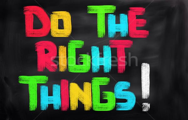 Direito coisas negócio sucesso idéia conceito Foto stock © KrasimiraNevenova