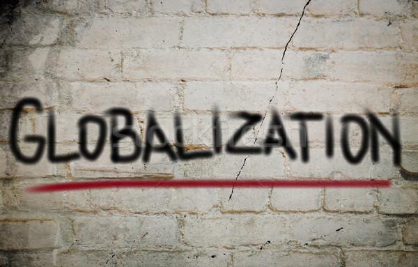 Globalisering gebouw wereld groep team corporate Stockfoto © KrasimiraNevenova
