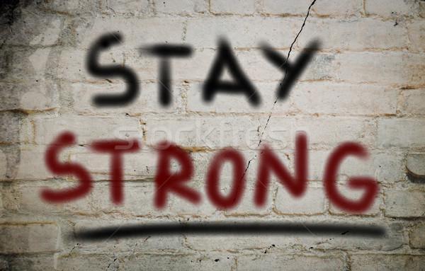 Soggiorno forte parole fiducia forza vincente Foto d'archivio © KrasimiraNevenova